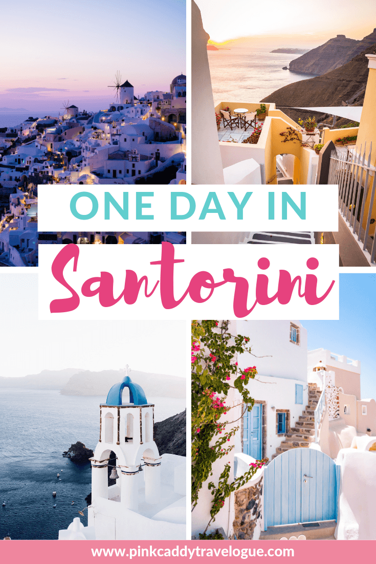 Only have one day in Santorini? Here's the perfect itinerary to make sure you see everything you need to on Greece's Instagram-famous island! #greece #santorini #travel #europe