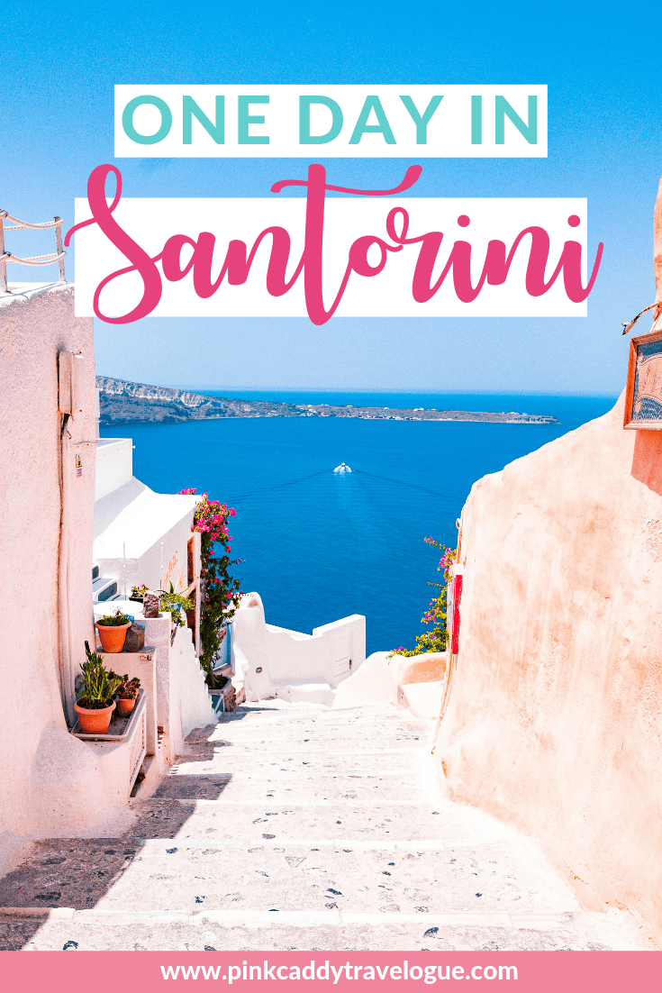 Only have one day in Santorini? Here's the perfect itinerary to make sure you see everything you need to on the crown jewel of the Greek islands! #greece #santorini #travel #europe