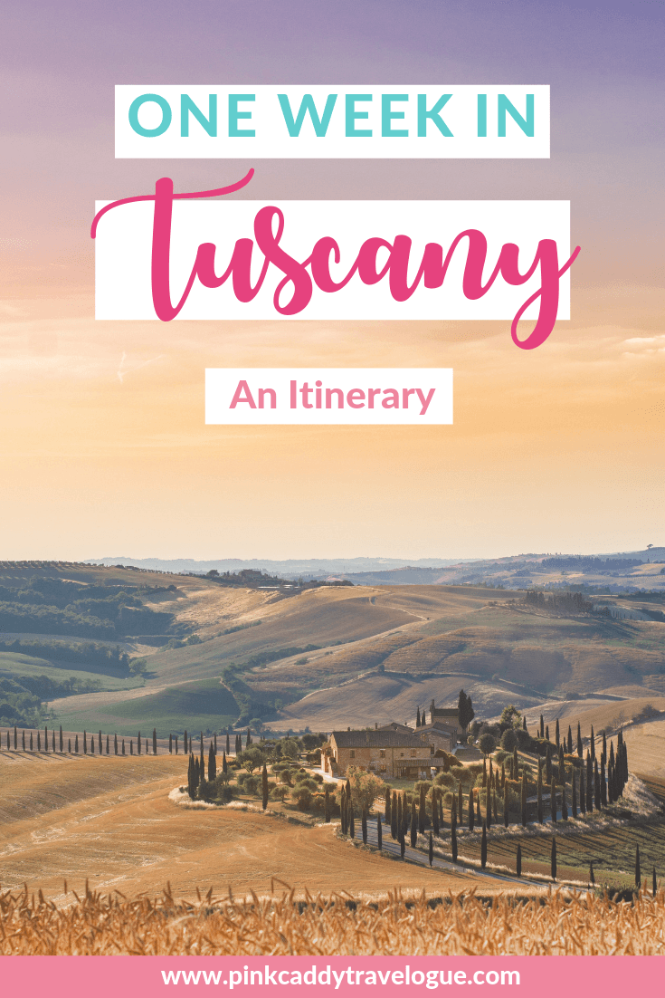 Headed to the land of pasta, wine, and cypress trees? Check out this one week Tuscany itinerary! #italy #tuscany #travel #roadtrip