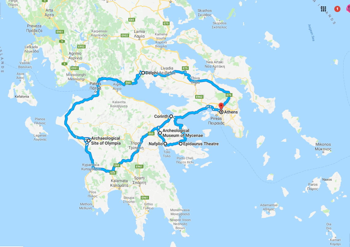 one week in greece