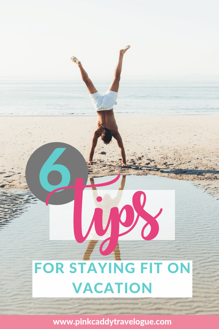 Yes, it is possible to maintain your fitness goals AND travel (and still enjoy your vacation)! Check out these 6 easy tips for doing just that #fitness #travel #exercise #gym #vacation